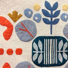 Carolyn Friedlander applique quilt detail