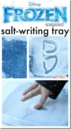 This is such a fun activity for preschool and kindergarten age kids who are practicing their alphabet letters. It is a fun, hands on, sensory activity for writing. Frozen Snow and Ice Writing FUN Make practicing letters FUN with this Disney Frozen inspired activity! This Snow and Ice Writing Tray from I Can Teach My …