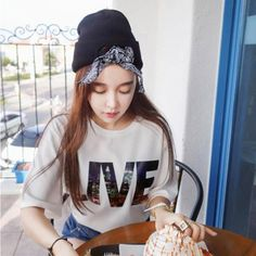 Monogramme black bowknot decorated simple design acrylic fibers Knitting Wool Hats http://www.asujewelry.com