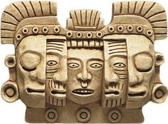 Mayan Mask of Death and Rebirth Wall Relief