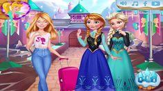 Disney Frozen Dress up games: Ellies Trip to Arendelle; Elsa and Anna Ja...