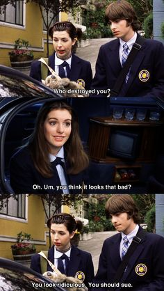 The Princess Diaries (2001) - Quotes---- true friendship right there. Haha