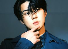 Sehun - DIOR | #EXO #Sehun #엑소 #세훈 Sehun, Park Chanyeol, Kim Min Seok, Do Kyung Soo, Dior, Korea, Photoshoot, Long Hair Styles, Archer
