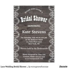 Couture cake bridal shower invitation pink bridal showers lace wedding bridal shower wood invitation card stopboris Image collections