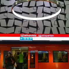 was most scifi 🚉 🚇 in Opening day of fresh from Helsinki to Espoo Finland. Metro Station, Helsinki, Finland, Fitbit, Believe, 18th, Fresh, Instagram Posts, Stones
