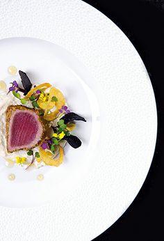 Half-cooked red tuna @ Zazu. Restaurant of a Grand Chef Relais & Châteaux in town. Ecuador, Quito