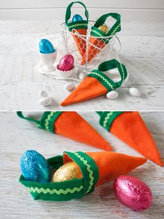 """EASTER """"CARROT"""" TREAT BAGS"""