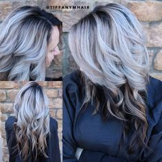 Shadow root silver hair by @massey07