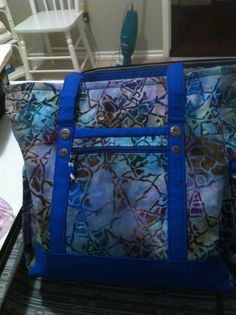 professional tote.. #2 December 2013, Sewing Projects, Quilting, Patchwork, Fat Quarters, Quilling Art, Crochet