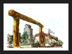 """Lander, Wyoming""  Watercolor painting by LcBookout http://lcbookout.webs.com  http://www.facebook.com/lcbookout.art"