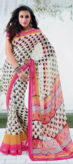 130639: #optical #prints #saree