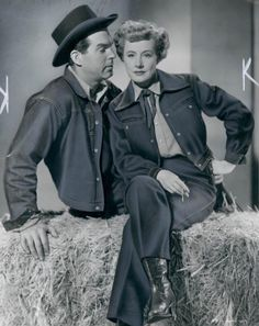 """Fred MacMurray and Irene Dunne in the 1950 film """"Never a Dull Moment."""""""