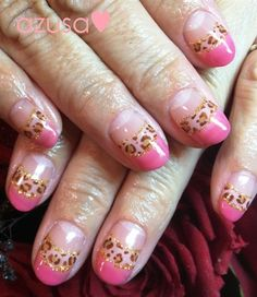 leopard double french❤ - Nail Art Gallery