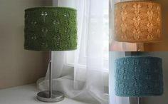 Modelos de pantallas para lámpara en ganchillo