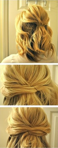 Hairstyles Tutorials for Medium Hair: Simple Half Updos simple updo - it's also pretty before it's all the way up.simple updo - it's also pretty before it's all the way up. Updo Hairstyles Tutorials, Pretty Hairstyles, Easy Hairstyles, Wedding Hairstyles, Holiday Hairstyles, Style Hairstyle, Vintage Hairstyles, Elegant Hairstyles, Latest Hairstyles