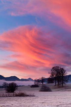 ✯ Sunrise - Sonnenaufgang Foehn Alpen by Stefan Gerzoskovitz ✯
