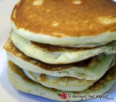 American Pancakes, Greek Desserts, Tasty, Yummy Food, Breakfast Pancakes, Sweet Recipes, Food To Make, Sweet Tooth, Deserts