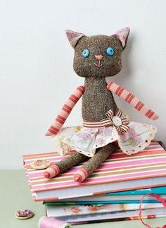 Tweed Cat Doll