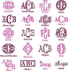 everyone should know monogram fonts
