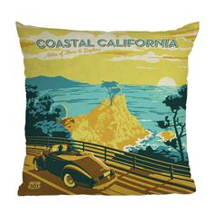 DENY Designs Anderson Design Group Coastal California Throw Pillow | Pure Home