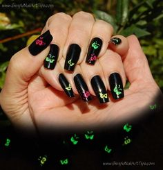 Halloween Spooky Eyes - Glow in the Dark by NailPizzaz - Nail Art Gallery nailartgallery.nailsmag.com by Nails Magazine www.nailsmag.com #nailart