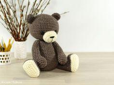 Classic 4-way jointed crocheted teddy bear // Kristi Tullus (spire.ee)