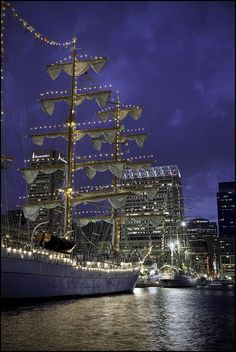 Beautiful vintage sail. Inner Harbor, Baltimore, Maryland