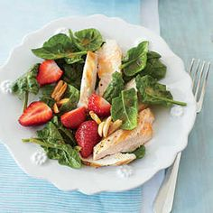Quick and Easy Summer Salads | Grilled Chicken-and-Strawberry Salad | MyRecipes
