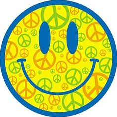 ☯☮ॐ American Hippie Bohemian Psychedelic Art ~ 70's Peace Sign Smiley Face
