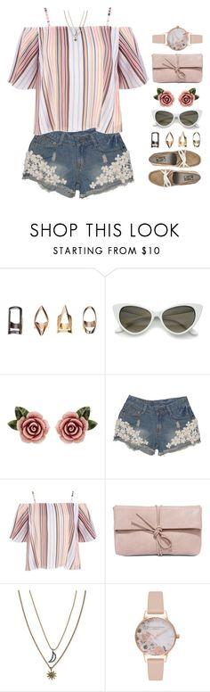 """Desdemona"" by brie-the-pixie ❤ liked on Polyvore featuring Dolce&Gabbana, LULUS, Rachel Rachel Roy, Olivia Burton, summerstyle and spring2018"
