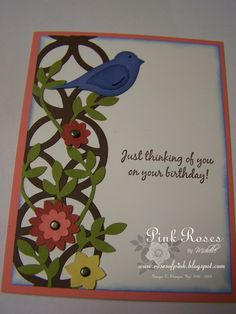 Roses of Pink: Stampin' Up! Lattice Die Card