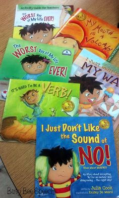 Books by Julia Cook Busy Bee Speech: Helpful Books by Julia Cook. Great for pragmatics and social communication and behaviorsBusy Bee Speech: Helpful Books by Julia Cook. Great for pragmatics and social communication and behaviors Speech Language Therapy, Speech And Language, Speech Therapy, Play Therapy, Therapy Activities, Book Activities, Therapy Ideas, Therapy Tools, Therapy Worksheets