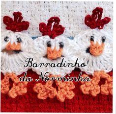 Vintage Crochet Chicken Patterns The Cutest Collection Crochet Borders, Crochet Motif, Crochet Lace, Crochet Stitches, Crochet Patterns, Crochet Towel, Crochet Dishcloths, Easter Crochet, Crochet Crafts