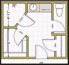 8 X 10 Master Bathroom Layout