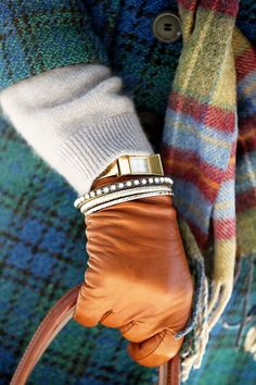 ~ oh cashmere, vintage plaid, tartan and good leather gloves, how I've missed you all summer