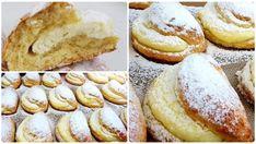 A tésztából nagy köröket szaggatott, megtöltötte finom túrókrémmel, így készült ez a csodás finomság! - Bidista.com - A TippLista! Hungarian Desserts, Croissants, Hamburger, Tart, Food And Drink, Cooking Recipes, Bread, Cookies, Bob