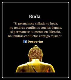 ... Si permanece callada tu boca, no tendrás conflictos con los demás, si permanece tu mente en silencio no tendrás conflictos contigo mismo. Buda.