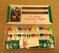 Vintage 20 Noma Christmas Tree Lights - New Old Stock