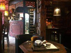 Tea house in Poland Houses In Poland, Tea Culture, Drinking Tea, Polish, Chair, Furniture, Home Decor, Vitreous Enamel, Nail Polish