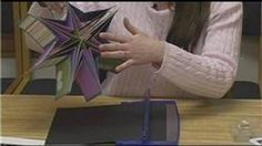 how to make a pocketed star book - YouTube