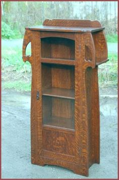 Diminutive Bookcase with Cut-Outs and Exterior