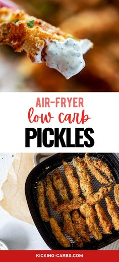 Fried Pickles without the carbs? Count me in! This Almond Flour Coated Fried Pickles is every bit as good as the original. Crispy goodness will keep you coming back for more. Low Carb Recipes, Real Food Recipes, Fried Pickles Recipe, Air Fryer Recipes, Fries, Appetizers, Meals, Snacks, Breakfast