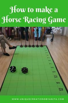 How to make a Horse Racing Game – Unique Creations By Anita How to make a horse racing game, Activities for the elderly, indoor games, outdoor games Games For Elderly, Elderly Activities, Dementia Activities, Senior Activities, Group Activities, Activity Games, Summer Activities, Exercise Activities, Outdoor Activities
