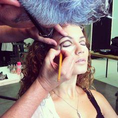 Backstage shooting for Miss Italia & Miss Deborah Milano — at Italy , Milan.