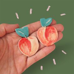 Togetherness Design / Esther Sandler - Melbourne based textile designer and illustrator  Ceramic Peach Earrings