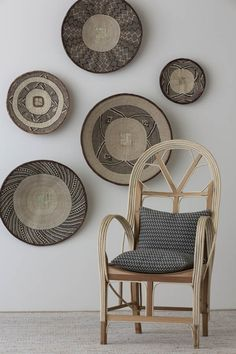 Mokum_Tribal_High_08 Patterned Furniture, African Furniture, Picture Arrangements, African Artwork, How To Clean Furniture, Furniture Cleaning, Deco Boheme, Baskets On Wall, Wall Basket