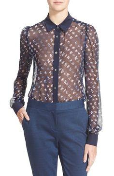 DIANE VON FURSTENBERG 'Mariah' Floral Print Silk Blouse. #dianevonfurstenberg #cloth #