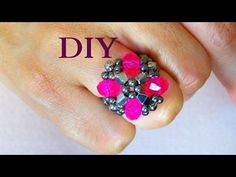 #DIY BIJUTERIA - ANEL PINK - YouTube