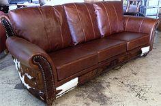 Anzio Sofa - Cowhide Western Furniture