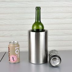 2.8L Double Wall Stainless Steel Ice Bucket Practical Durable Home Bar Barrel Ice Container Barrel Beer Wine Cooler